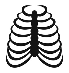 Rib cage icon simple style vector image vector image