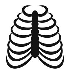 Rib cage icon simple style vector image
