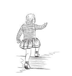 the small girl vector image vector image