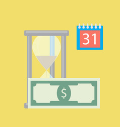 time for money salary vector image
