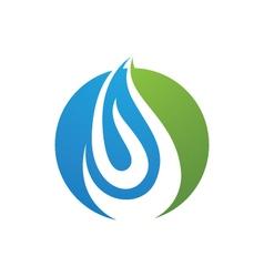 Water icon logo template vector