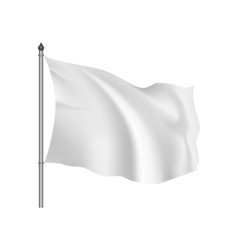 White flag waving on the wind vector image vector image