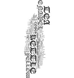 Yellow enamel tea kettle text word cloud concept vector