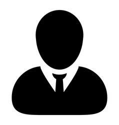 Human man user profile avatar glyph icon vector