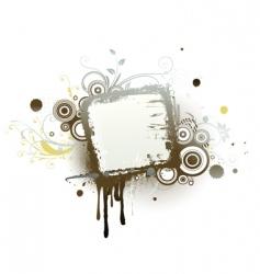 urban floral frame vector image