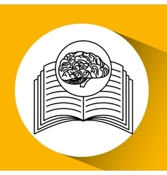 Book brain school knowledge vector