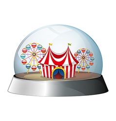 A dome with a carnival inside vector