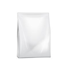 blank foil or paper bag packaging for food snack vector image