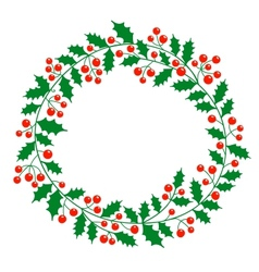 Christmas wreath with place for your text vector