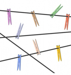 clothes pegs vector image
