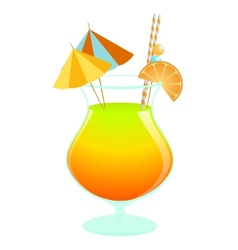 Summer tropical cocktail vector