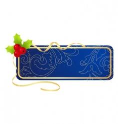 Christmas tablet vector image