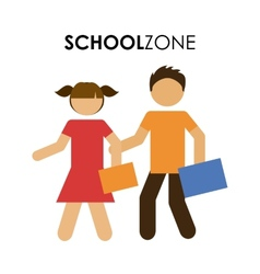 school zone design vector image