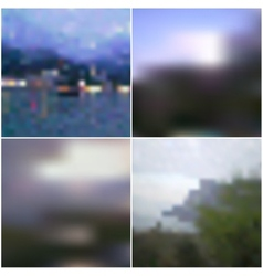 Blur landscape backgrounds editable vector
