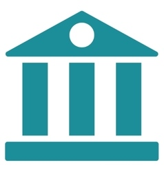 Bank flat soft blue color icon vector image