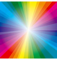 spectrum rays background vector image
