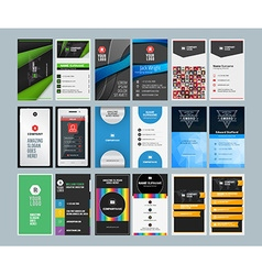Set of creative vertical business card print vector