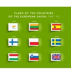 Flags of eu countries vector