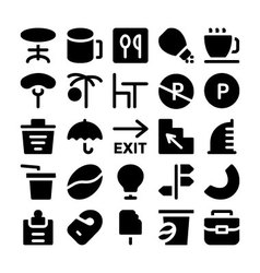 Hotel and restaurant icons 14 vector