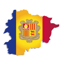 andorra flag amp map vector image