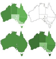 Australia maps vector