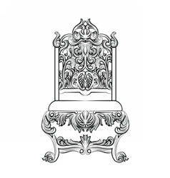 Baroque luxury style furniture vector image vector image
