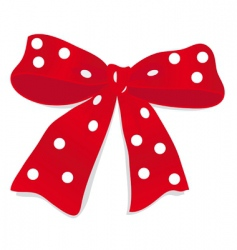 big bow of red ribbon vector image vector image