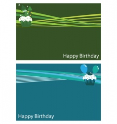 birthday cards vector image vector image