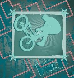 bmx vintage frame vector image vector image