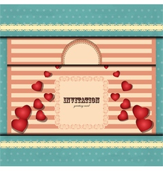 cards for valentines day in vintage style - vector image vector image