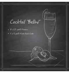 Cocktail belini on black board vector image vector image