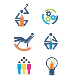 Creativity design icons vector