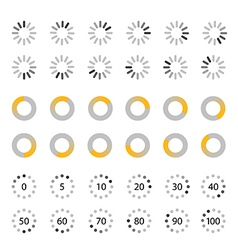Different slyles of web loaders collection Flat vector image vector image