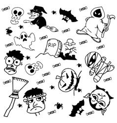 Doodle Halloween for kids vector image