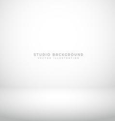 empty white studio background vector image vector image