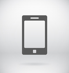 Flat cell phone sign tablet symbol background vector