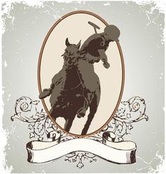 horse sport vector image vector image