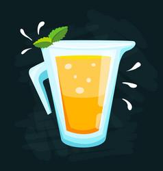 Lemon and lime lemonade background vector