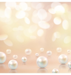 Pearls beads bokeh background vector