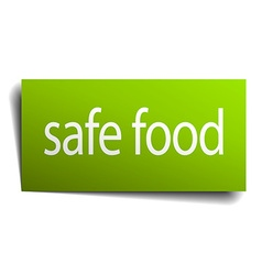 Safe food square paper sign isolated on white vector