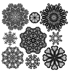 set circle lace 2 380 vector image vector image