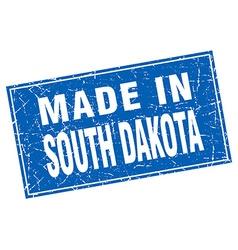 South dakota blue square grunge made in stamp vector