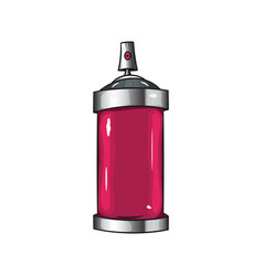 Sprays with pink paint vector