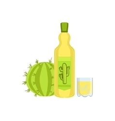 Tequila mexican culture symbol vector
