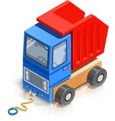 Truck wooden toy vector
