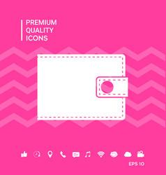 Wallet symbol icon vector
