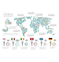 World people infographics human infographic on vector