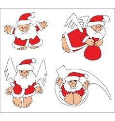 Santa claus collection vector