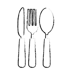 Silverware icon image vector