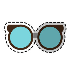 round glasses frame icon image vector image